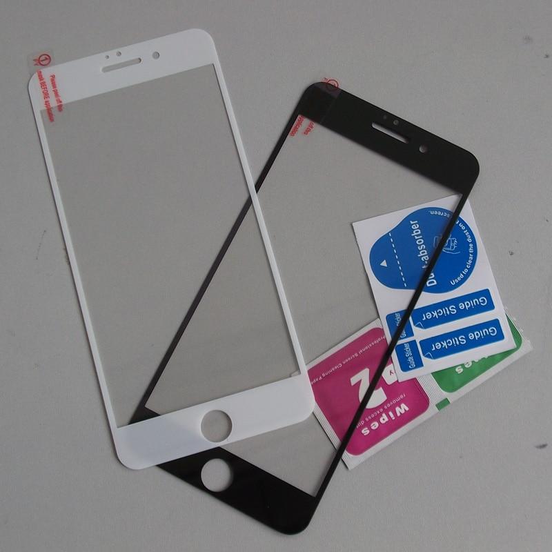 bilder für 100 teile/los voll gehärtetem glas film für iphone 7 4.7 glas film schwarz/weiß durch dhl fedex sherrytree