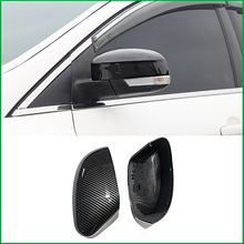 For Ford Focus MK3 2012 2017 Rearview Mirror Shell Replace Original Door Side Wing Mirror Cover Cap ABS Carbon Fiber Look Trim