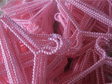 10 pieces per lot free shipping Factory direct sale imitation pink pearl women clothing stores ABS beads hangers