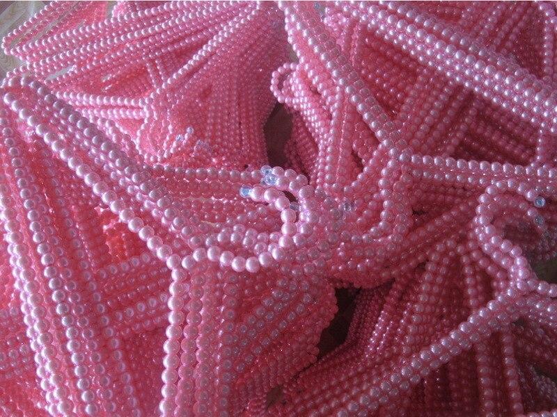 10 टुकड़े प्रति बहुत मुफ्त शिपिंग फैक्टरी प्रत्यक्ष बिक्री नकली गुलाबी मोती महिलाओं के कपड़े स्टोर एबीएस मोती हैंगर