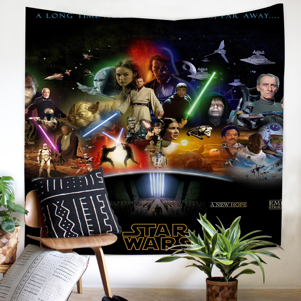 Role picture Tapestry Star Wars soft Wall Hanging decoration comfortable style Black bottom 3D Be well received Tapestry
