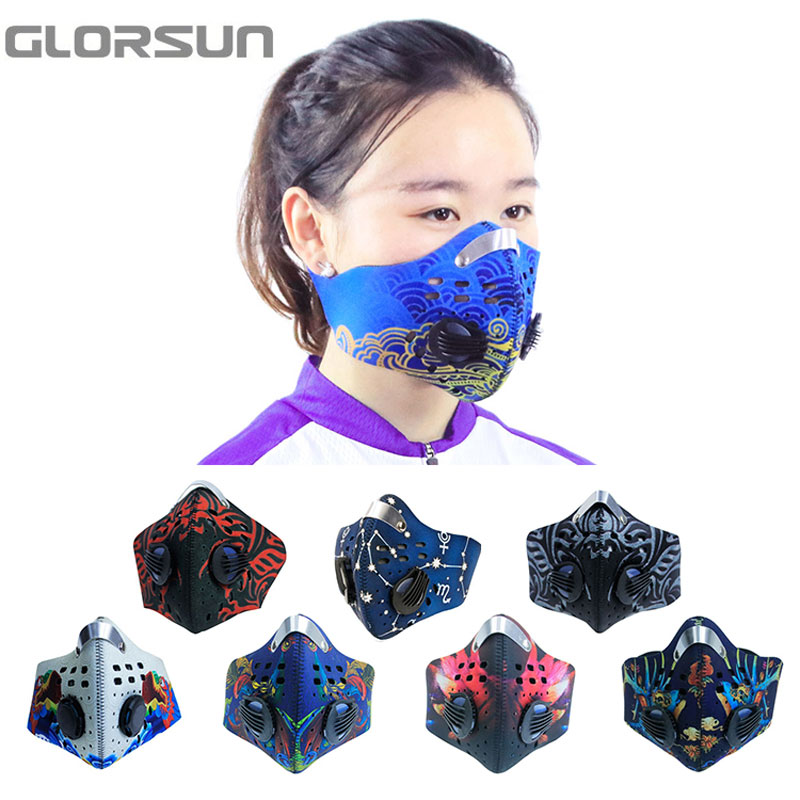 GLORSUN New Products Anti Pollution Cotton Mouth Air Mask Design For Working Out  Custom Neoprene  Anti Pm2.5 Cycling Mask