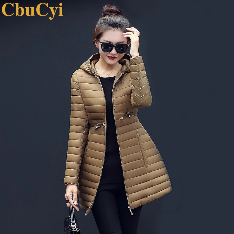 CbuCyi New Fashion Winter Women Long Parka Coat Full Sleeve Hooded Down Jacket Female Slim Casual Outwear Parkas Coats Plus Size 2017 new winter fashion women down jacket hooded thick super warm medium long female coat long sleeve slim big yards parkas nz18