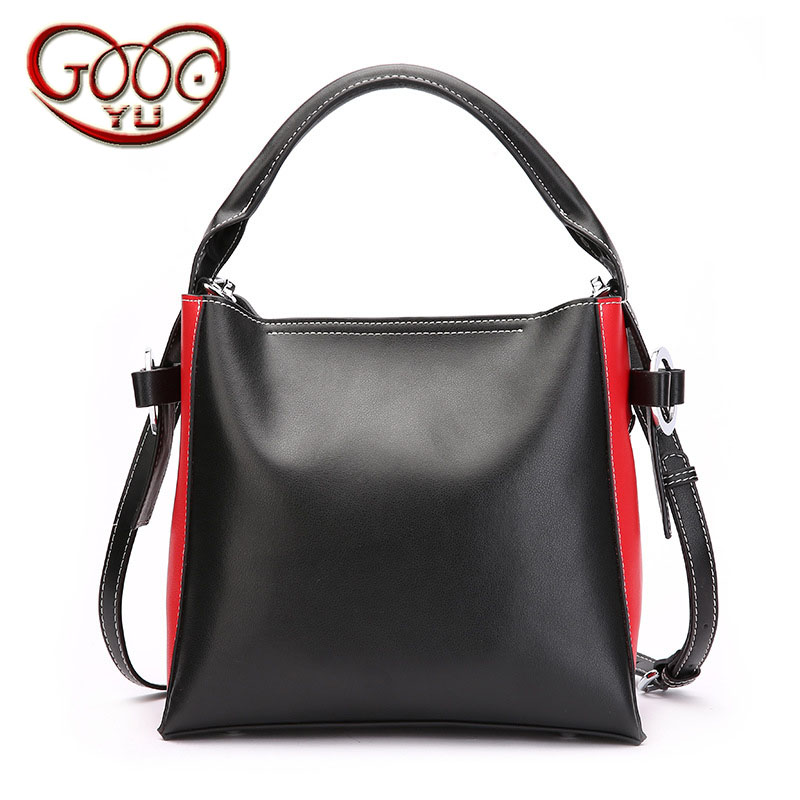 New cowhide shoulder bag leather Messenger bag buckle fashion Europe and the United States portable ladies bag new europe and the united states fashion oil wax head layer of leather portable retro shoulder bag heart shaped color embossed h