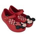 2016 mini melissa zapatos de niñas sandalias para niñas barato alta Calidad de Las Muchachas Zapatos Melissa Mickey y Minnie Niños de Dibujos Animados zapatos