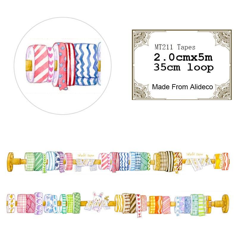Alideco 1 Pcs/lot Cartoon Washi Tapes DIY Japanese Paper Decorative Adhesive Tape/Masking Tape Scrapbooking Stickers Length 5 M