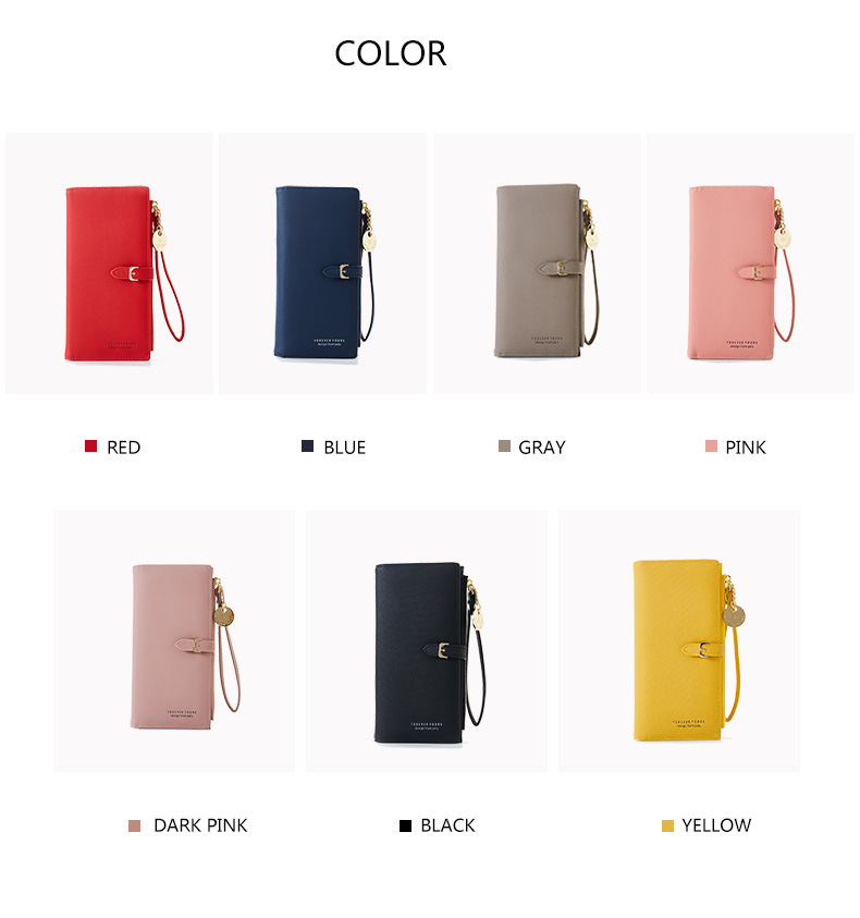 Women Long Wallet Many Departments Female Wallets Clutch Lady Purse Zipper Phone Pocket Card Holder Ladies Carteras 39