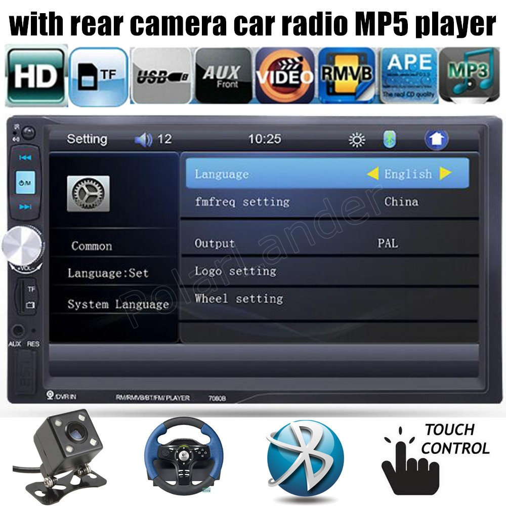 Car Radio USB TF FM Bluetooth Stereo Aux/DVR Input touch screen DVR/rear camera input selection 2 din 7 inch MP5  car radio mp5 mp4 player stereo fm video bluetooth 2 din 6 6 inch fm for android screen mirroring support rear camera dvr input