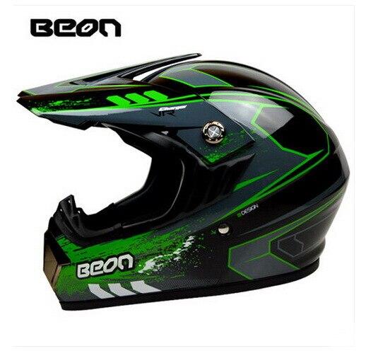 Netherland BEON мотоциклетный шлем для мотокросса высшего качества рыцарь внедорожный мотоциклетный защитный шлем из АБС B-600 Размер M L XL - Цвет: Bright black Green