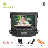 Car DVD player For Mitsubishi Outlander 2007 2012 GPS stereo audio navigation,Android 9.1,Double DIN,7 ISP Screen