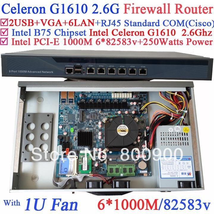 Celeron G1610 industrial 1U firewall server barebone system with 6*1000M 82583v Lan Wayos PFSense Mikrotik Panabit ROS support celeron g1610 industrial 1u firewall server barebone system with 6 1000m 82583v lan wayos pfsense mikrotik panabit ros support