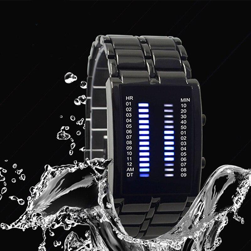 럭셔리 남자 여성 방수 스테인레스 스틸 시계 날짜 - 남성 시계