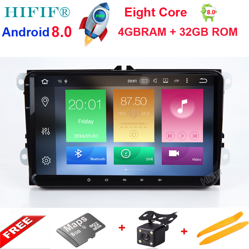 HIFIF New 9 Octa Core PX5 4GB Android Car Radio Audio Stereo For Volkswagen VW PASSAT CC GPS Navigation Tape Recorder Head Unit