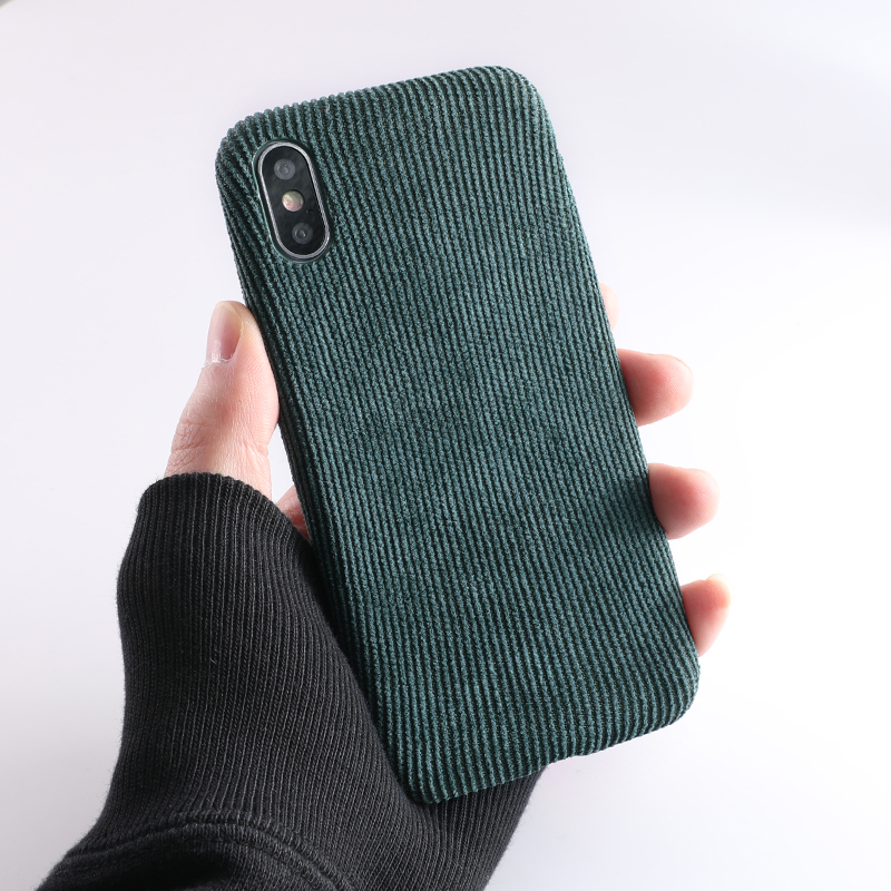 SoCouple Plush Fabrics Phone Case For iphone X 7 8 6 6S plus Case For iphone Xs max XR Cloth Texture Soft Back Cover Capa Fundas (10)