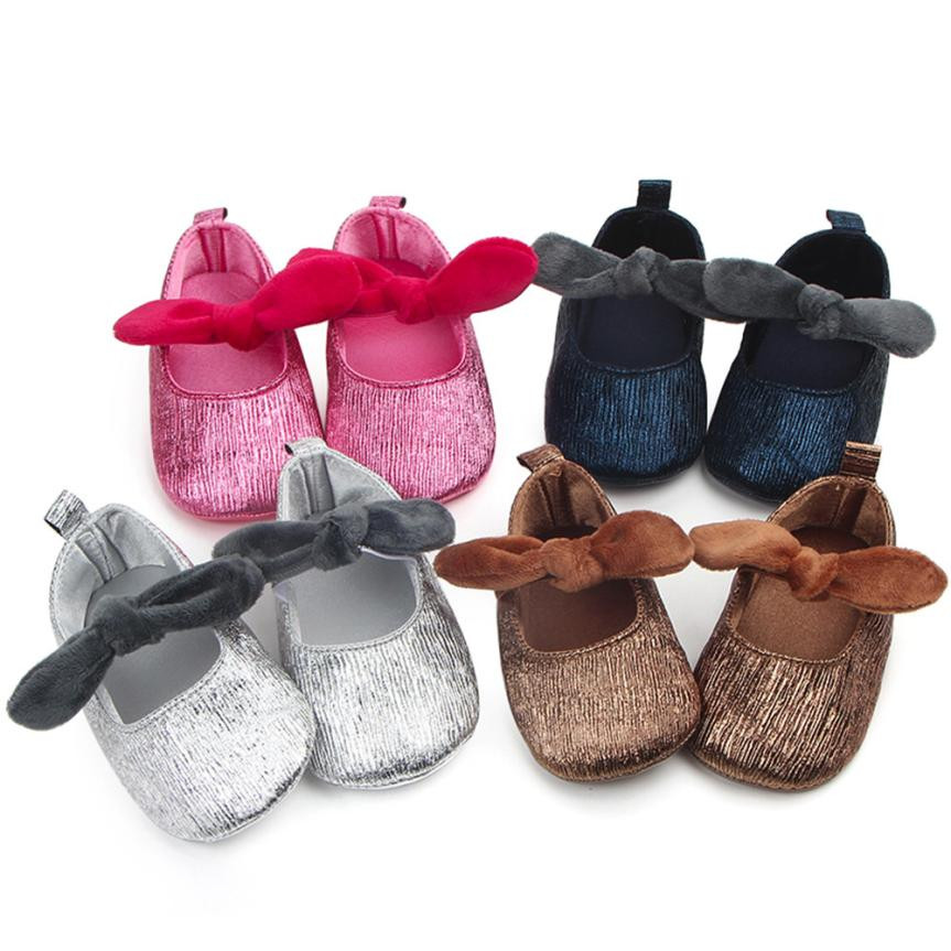 MUQGEW Childrens Clothes Infant Baby Toddle Baby Girls Shoes Bow Soft Floral Crib Anti-slip Single Shoes Summer 2018