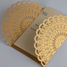 10pcs Engagement Invitation Card Delicate Carved Mr/Mrs Pattern Laser Cut Birthday Party Festival Favors Romantic Wedding