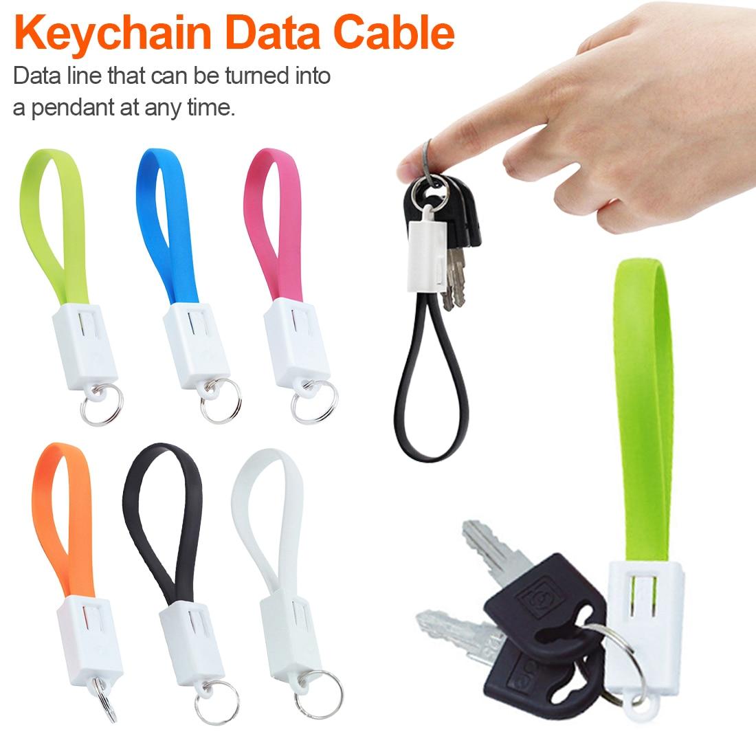 Handy Kabel Tragbare Schlüsselbund Usb Daten Kabel Für Iphone Micro Usb Typ C Schnelle Lade Handy Ladegerät Kabel Für Samsung Galaxy Xiaomi