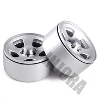 INJORA 1.9 Beadlock Classic Metal Wheel Rim for RC Rock Crawler Axial SCX10 90046 Traxxas TRX4 D90 5