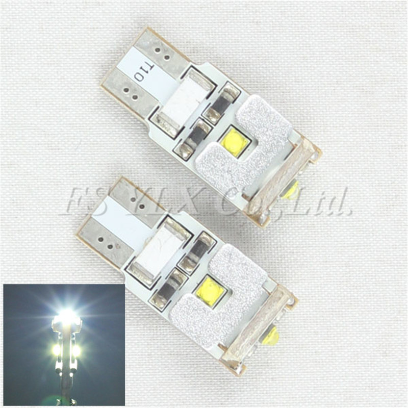FSYLX 2pcs T10 W5W CANBUS White LED Width DRL Signal interior Lights Lamp 15W car bulbs No error led light parking lamp