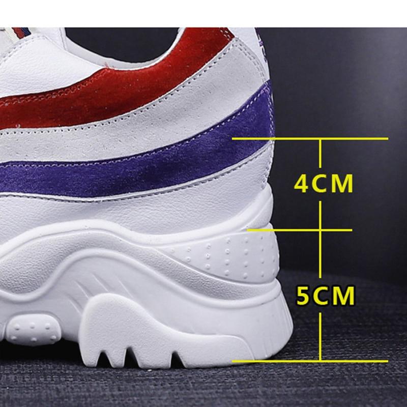 Semelle blanc Appartements Hauteur Femmes Chaussure Homme Beige 2018 Mode Mocassins forme Plate Augmenter Creepers Confortable noir Chaussures Hiver BgxTtT7wn
