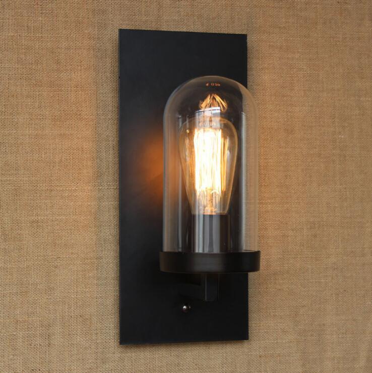 ФОТО LEDream Wrought iron bed country warehouse loft bar Christmas gift corridor glass wall lamp