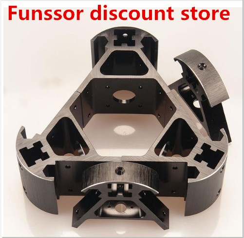 Colorful All Metal 3D Kossel Printer 2020 Aluminum Alloy Delta Angle Corner Kit Kossel Corner Kit Fast Ship