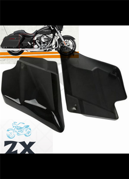 ABS injection Side Cover Panel For Harley Davidson Touring Street Glide Touring FLT FLH 09-16 Vivid Black motorcycle rsd motorcycle 5 hole beveled derby cover aluminum for harley touring flh t 2016 2017 for flhtcul and flhtkl 2015 2016 2017