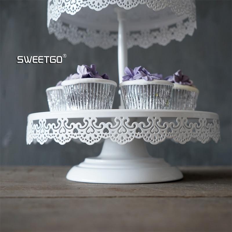 SWEETGO 2/3 niveles soporte de magdalenas decoración de pasteles de - Cocina, comedor y bar - foto 3