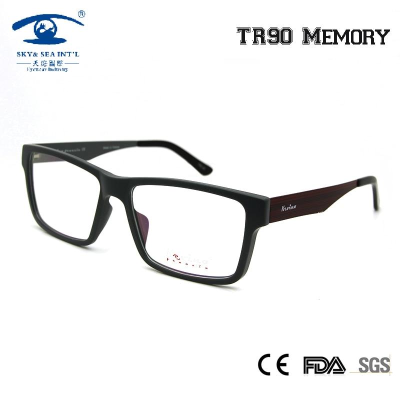 SKY&SEA OPTICAL Square Eyeglasses Frame Men Nerd Spectacle Clear Lens for Myopia Glasses Male Retro Eyewear