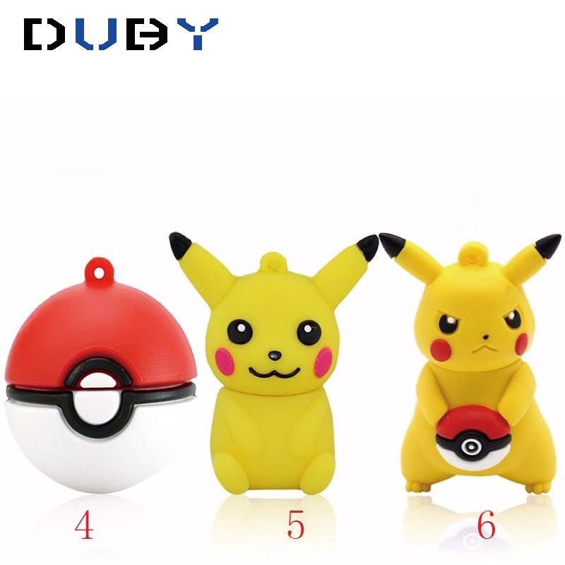 cartoon cute Pokemon Go Game Pikachu shape USB Flash Drive pendrive memory stick u disk pen drive Real capacity 4GB 16GB 32GB 64