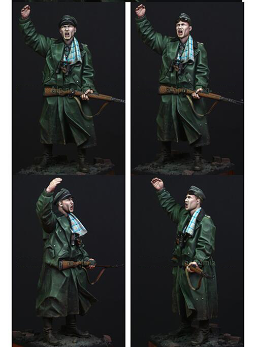 Assembly Unpainted Scale 1/16 120mm Kurt Meyer soldier 1941--120mm figure Historical WWII Resin Model Miniature Kit assembly unpainted scale 1 10 man of the african legion soldier bust figure historical wwii resin model free shipping