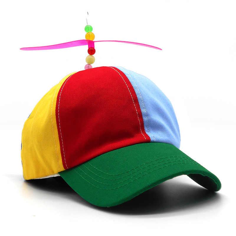 db5d1fec83f6 Gorros de béisbol de hélice para adultos divertidos gorras de béisbol  coloridas de marca de retazos sombrero hélice bambú libélula niños niñas ...