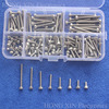 160 pz/set M3 Serie Hex Socket Cap Testa Vite Bulloni In Acciaio Inox Accessori Kit M3X6/8/10/12/16/20/25/30mm Assortimento