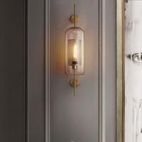 Постсовременный роскошный стеклянный настенный светильник скандинавские Настенные светильники для гостиной спальни прикроватные лампы в