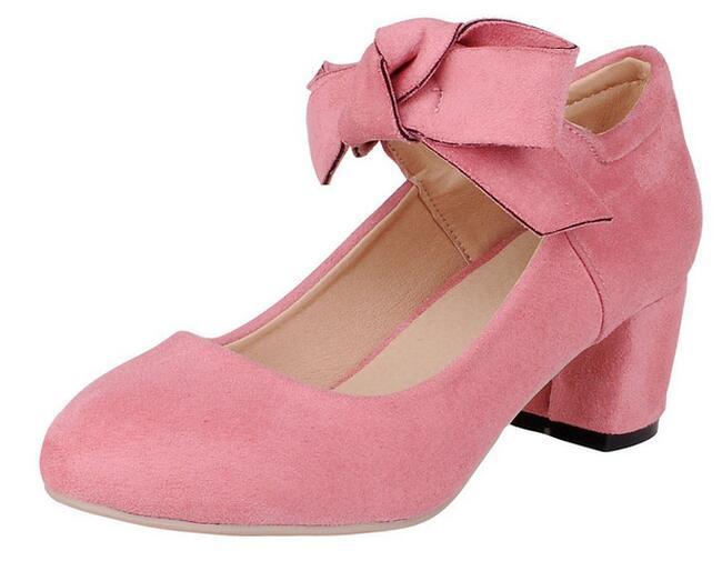 Pink Mid Heels - Qu Heel