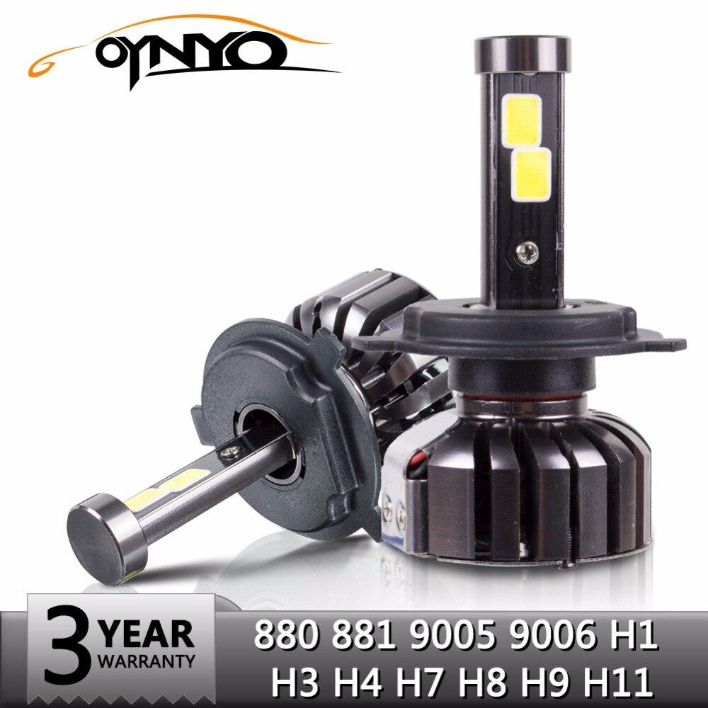 oynyo Car H7 H4 LED Front Headlight H1 H3 H8 H9 H11 9005 9006 880/881 8000LM 6000K COB LED Fog Light Bulb Automobiles Headlamp