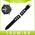 Silicone Rubber Watchband for Diesel Men Women Watch Band Stainless Steel Buckle Strap Wrist Bracelet Black 20mm 22mm 24mm 26mm