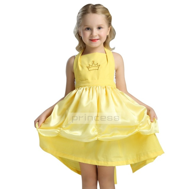 Little Girls Summer Belle Dresses Princess Costume Party Clothing Beauty and the Beast Yellow Dress Dancing  sc 1 st  AliExpress.com & Little Girls Summer Belle Dresses Princess Costume Party Clothing ...