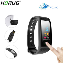 HORUG Smart Wristband Fitness Tracker Bluetooth Bracelet Screen Pedometer Big Touch Heart Rate Monitor