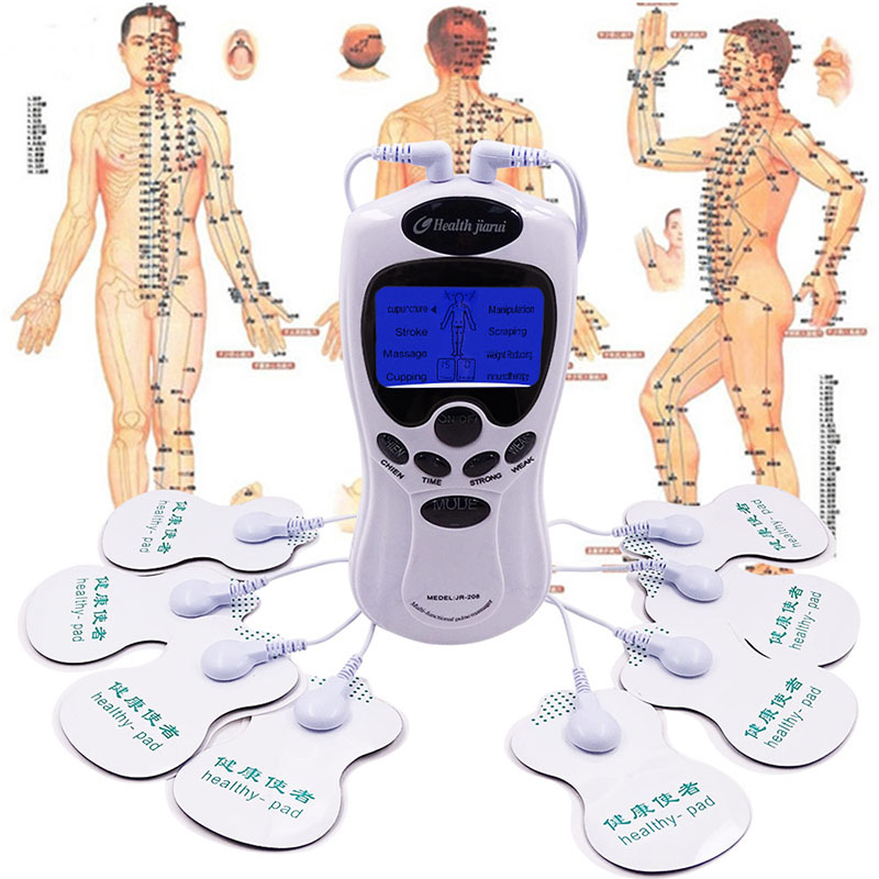 Body TENS Massager Electrical Stimulator Full Body Relax Muscle Therapy Massager Pulse tens Acupuncture Therapy +electrode pads electrical muscle stimulator body relax therapy massage device electric pulse tens acupuncture digital meridian massager 10 pads