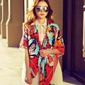 2016 Infinito Primavera Verano Mujeres de la Marca De Moda de Lujo Colorida Pañuelos De Encaje Satinado cuadrados Chales de Gasa de Seda Bufanda 130*130