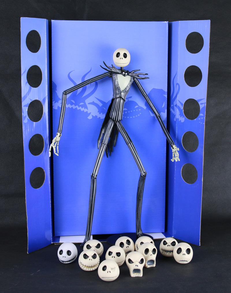 ФОТО  Animation Movie Tim Burton The Nightmare Before Christmas Jack Skellington 12 Face 35CM NECA Action Figure