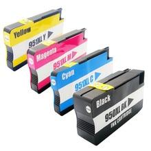 4 картриджи для hp 950 951 xl officejet pro 8100 8600 8630 8640 8610 8620 8680 8615 8625 8660 Принтер с чипом для HP950XL