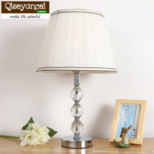 European crystal table lamp bedroom bedside lamp creative warm decorative lighting Qiseyuncai