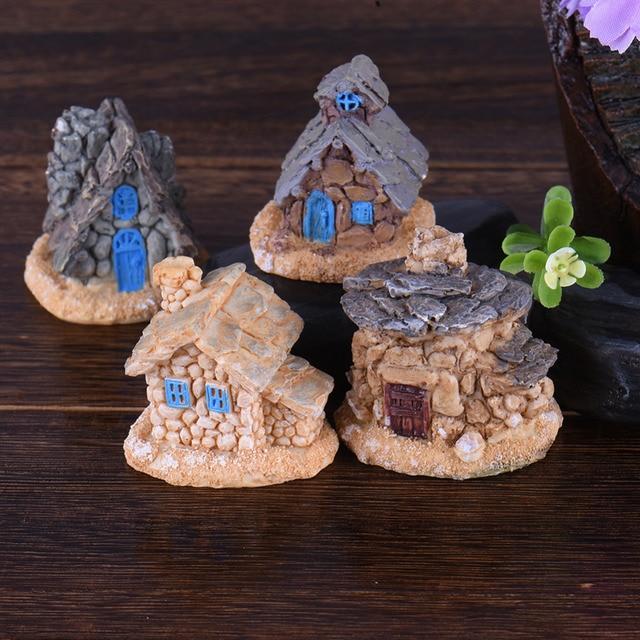 Maison en pierre Fée Jardin Miniature Artisanat Micro Chalet Paysage ...