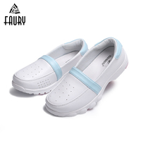 2018 New Summer White Nurse Shoes Ultra light Pregnant Women Soft Breathable Flat Shoes Hospital Medical Drugshop Work Sandals