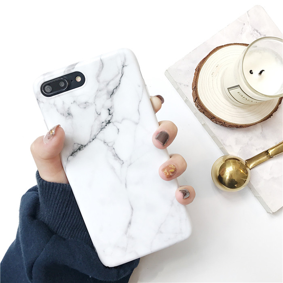 Moskado Shell Phone Case With Glossy Granite Marble Stone Cover For iPhone 11 Pro X XS Max XR 14