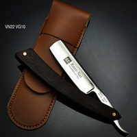 High Quality Sharp Razor VG10 Steel Classic Old Series Razor Sandal wood Handle Folding Shaving Knife Straight Blade HRC58 61