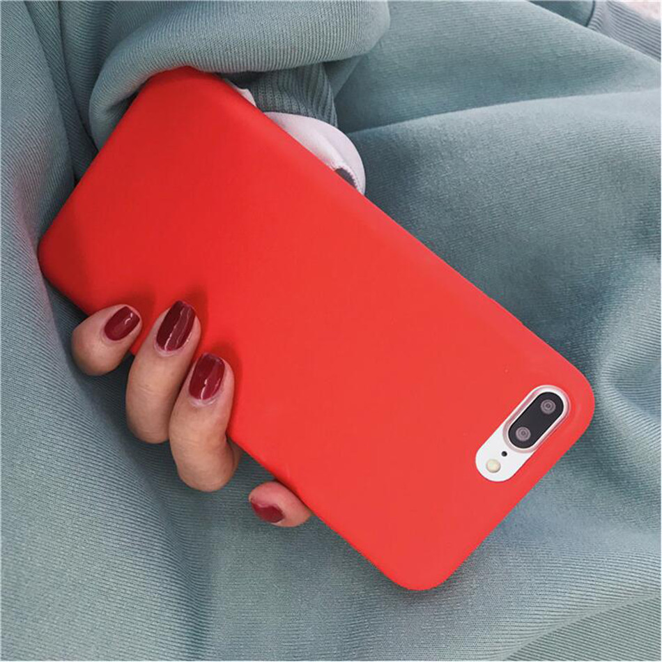 Original Silicone Case on iPhone 7 8 6 6S Plus X 5s 10