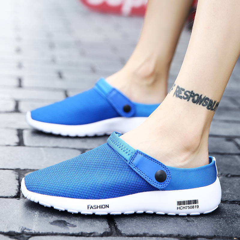 New 2018 Hot Baotou Garden Shoes New Breathable Cool Summer Slippers Tank Hole Shoes Men Beach Sandals Respirante Homme Hollow